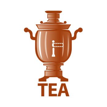 vector logo Russian samovar for tea