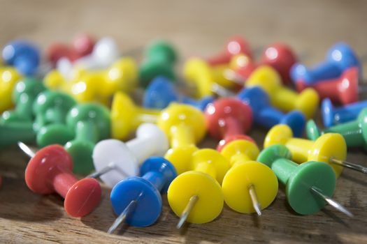 colored pushpins