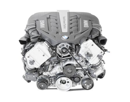BMW TwinPower turbo V8-cylinder top-of-the-range petrol engine isolated