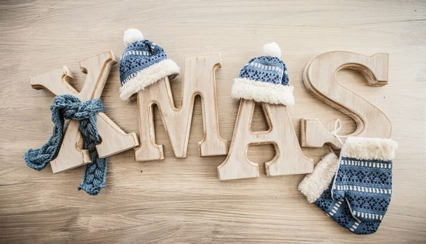 Xmas in rustic letters