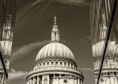 St Paul Cathedral reflections, London