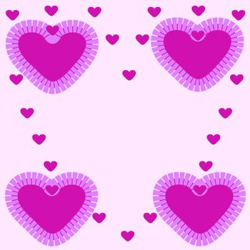 Large and small pink hearts pattern abstract background day Valentine