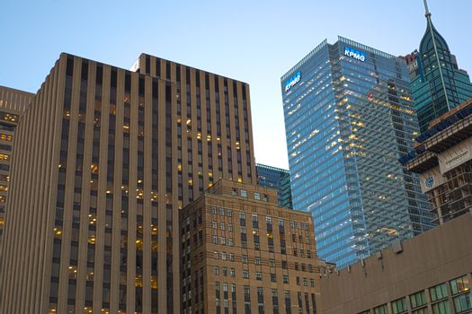 TORONTO,CANADA-JULY 9,2015: A view of  downtown toronto, the thi
