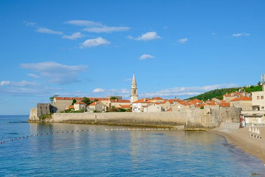 Morning in Old Town of Budva. Montenegro, Balkans, Europe