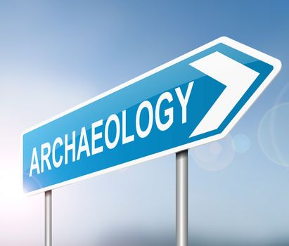 Archaeology concept.