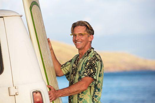 Happy Surfer in Hawaii