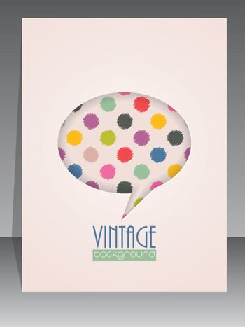 Cool vintage scrapbook cover with speech bubble