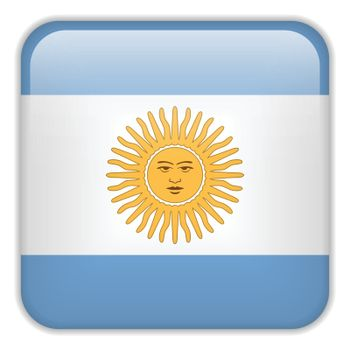 Vector - Argentina Flag Smartphone Application Square Buttons