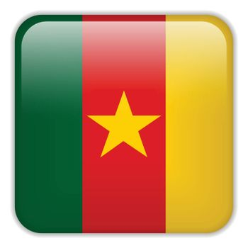Vector - Cameroon Flag Smartphone Application Square Buttons
