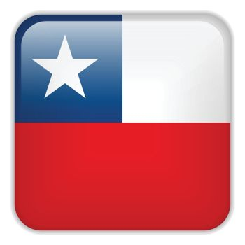 Vector - Chile Flag Smartphone Application Square Buttons