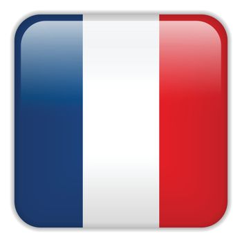 Vector - France Flag Smartphone Application Square Buttons