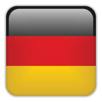 Vector - Germany Flag Smartphone Application Square Buttons