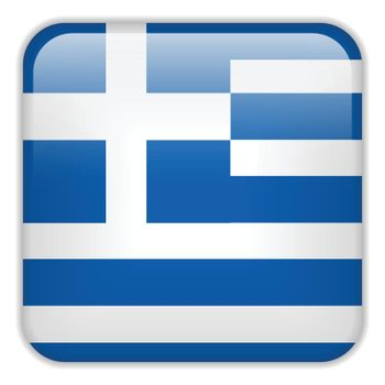 Vector - Greece Flag Smartphone Application Square Buttons