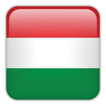 Vector - Hungary Flag Smartphone Application Square Buttons