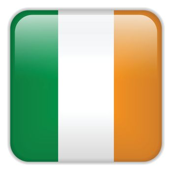 Vector - Ireland Flag Smartphone Application Square Buttons