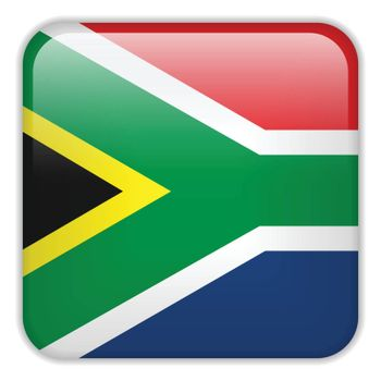 Vector - South Africa Flag Smartphone Application Square Buttons