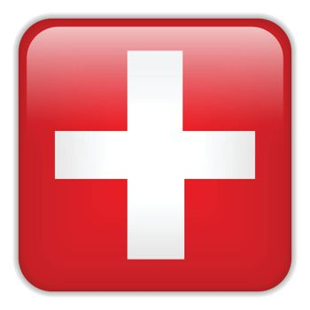 Vector - Switzerland Flag Smartphone Application Square Buttons
