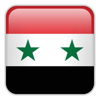 Vector - Syria Flag Smartphone Application Square Buttons