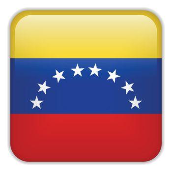 Vector - Venezuela Flag Smartphone Application Square Buttons