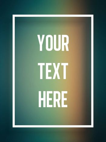Vector - Blur text frame blue green and orange background