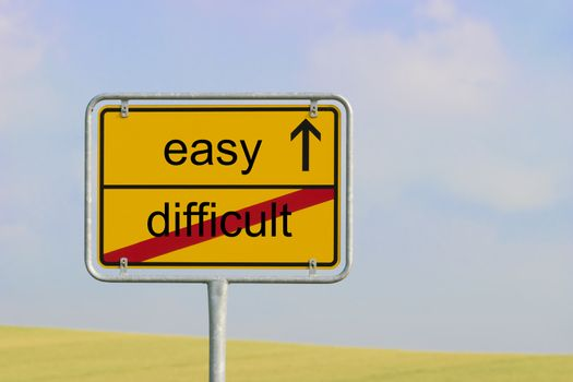 Sign difficult easy