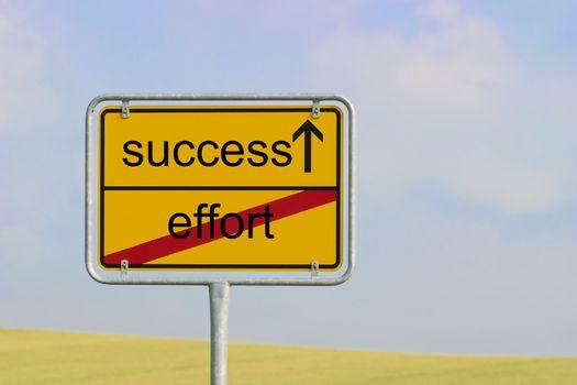 Sign effort success