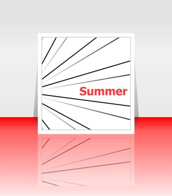 Hello summer poster. summer background. Effects poster, frame. Happy holidays card, happy vacation card. Enjoy your summer.