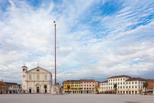 Main square of Palmanova, Italy.