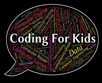 Coding For Kids Meaning Children Code And Youth