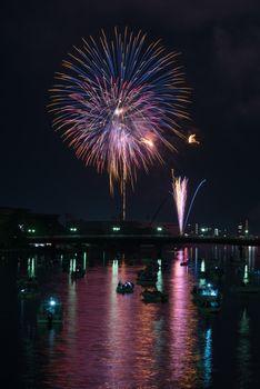 Fireworks over River