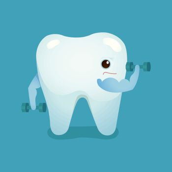 Tooth be strong of dental vector