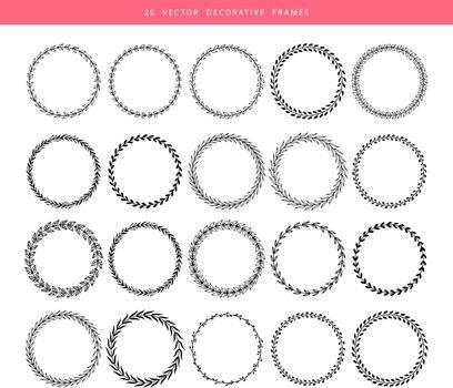 Vector illustration of Decorative frames 20 set