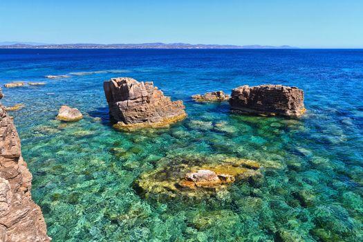 Sardinia - shore in San Pietro Isle