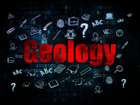 Learning concept: Geology on Digital background