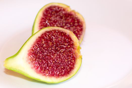 Fig cut in two halves