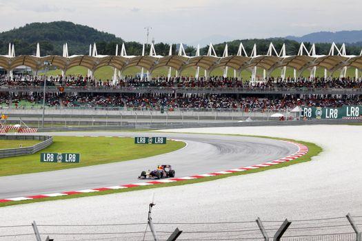 SEPANG, MALAYSIA - APRIL 4 : Malaysian Grand Prix at Sepang F1 first circuit April 4, 2010 in Sepang