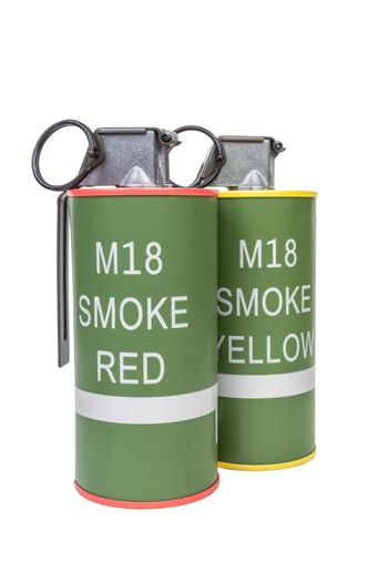 M18 Smoke Red and Yellow explosive model, weapon army,standard t