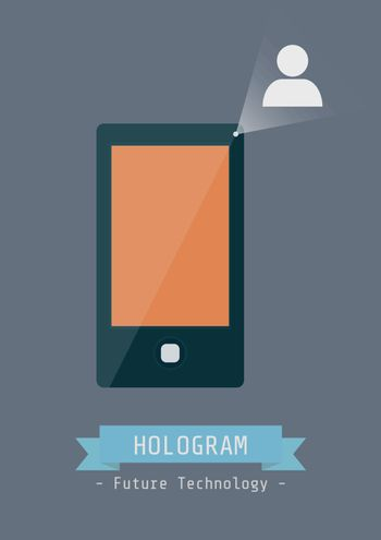 touch screen mobile phone with hologram technology, technology for the future