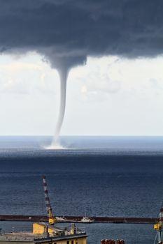 Waterspout in Mediterranean sea