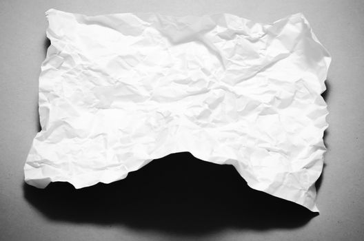a4 size crumpled paper black and white color tone style