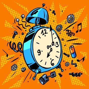 morning alarm clock rings time to Wake up