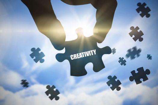 Creativity  against blue sky