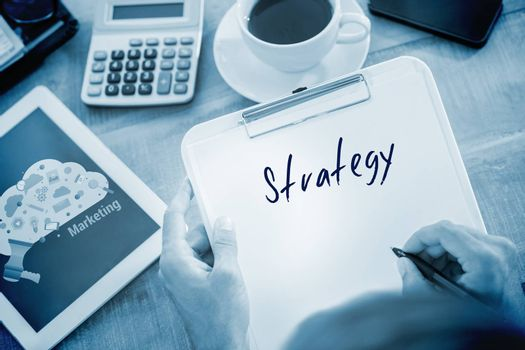 Strategy  against digital marketing graphic