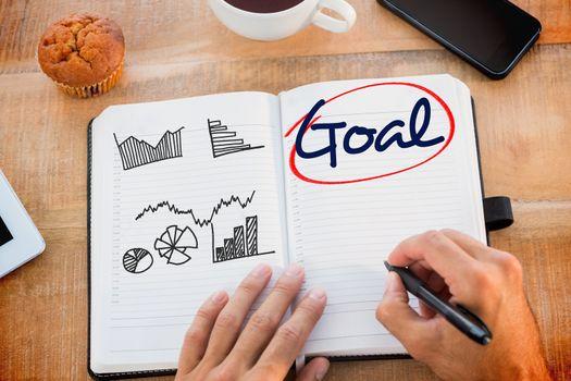 Goal  against business graphs