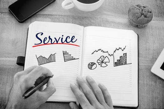 Service against business graphs