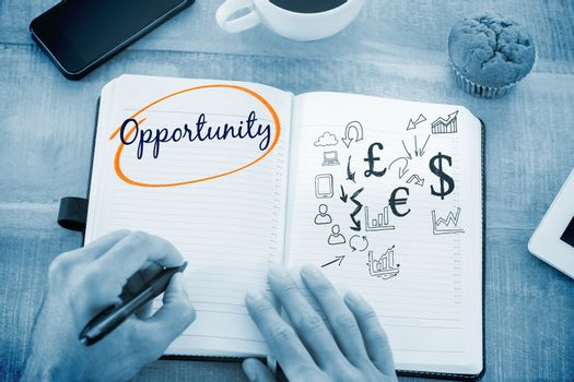 Opportunity  against currency symbols