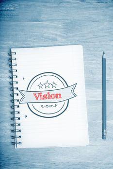 Vision  against students desk