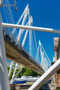 Jubilee Bridge in London over river Thames