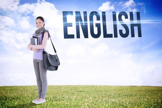 English against serene landscape