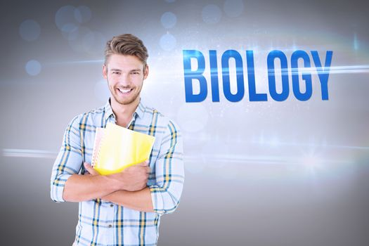 Biology against grey vignette